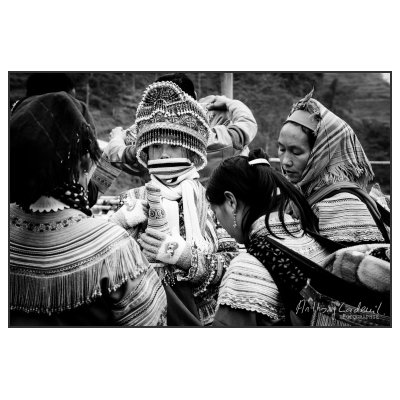 Photo Vietnam. H'mongs Noirs, nord Vietnam