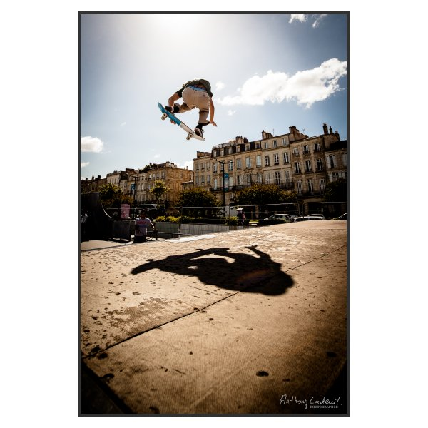 Photo Skateboard (volant). Skatepark de Bordeaux, juin 2020